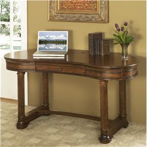 Traditional 2-Drawer Writing Desk with Keyboard Pullout