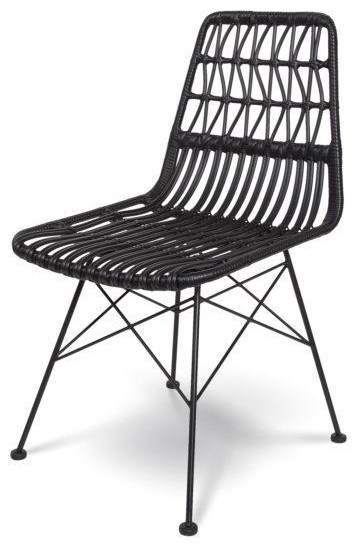 Calabria Black Chair by Style In Form at Stoney Creek Furniture