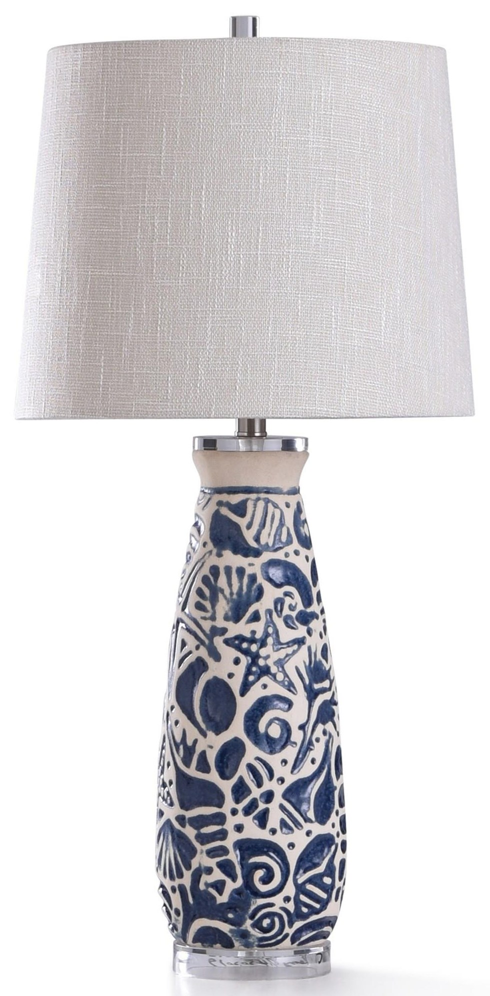 2020 LAMPS Blue Tropical Shell Lamp by StyleCraft at Furniture Fair - North Carolina