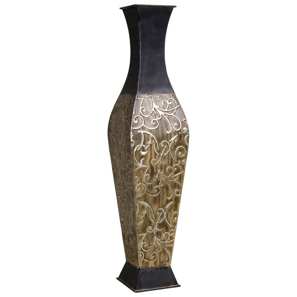 Accessories Carved Metal Container by StyleCraft at Alison Craig Home Furnishings