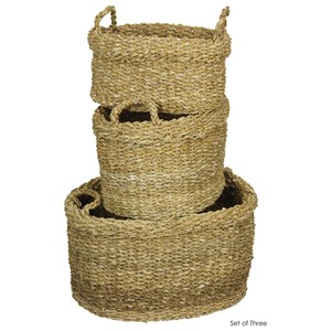 Set of 3 Hand Woven Nesting Baskets