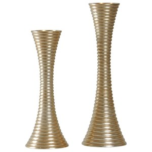 Set of Two Contemporary Candle Holders