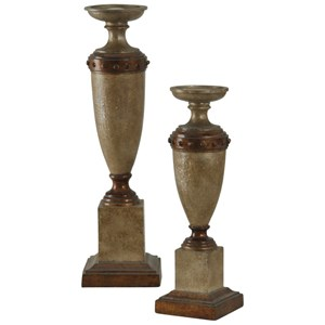 Traditional Pair of Candleholders