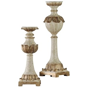 Traditional Set Of 2 Candle Holders