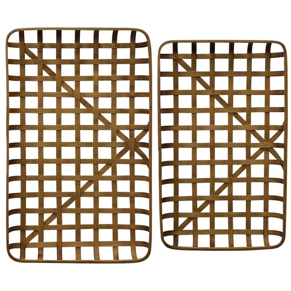 Accessories Set of Two Bamboo Trays by StyleCraft at Alison Craig Home Furnishings