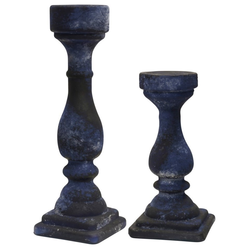 Accessories Set of Two Candle Holders by StyleCraft at Alison Craig Home Furnishings