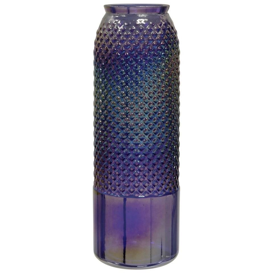 "Accessories Diamond Stud Violet Pearl 17"" Vase by StyleCraft at Becker Furniture"