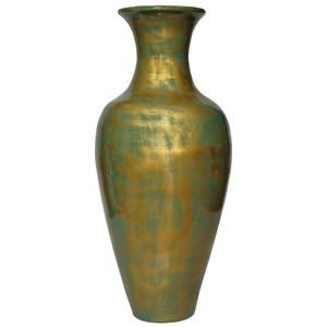 Hand-painted Spun Bamboo Vase