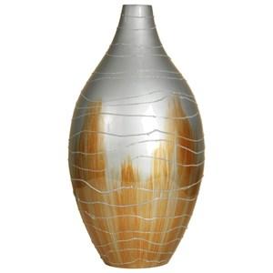 Corner Vase with Raised Grains