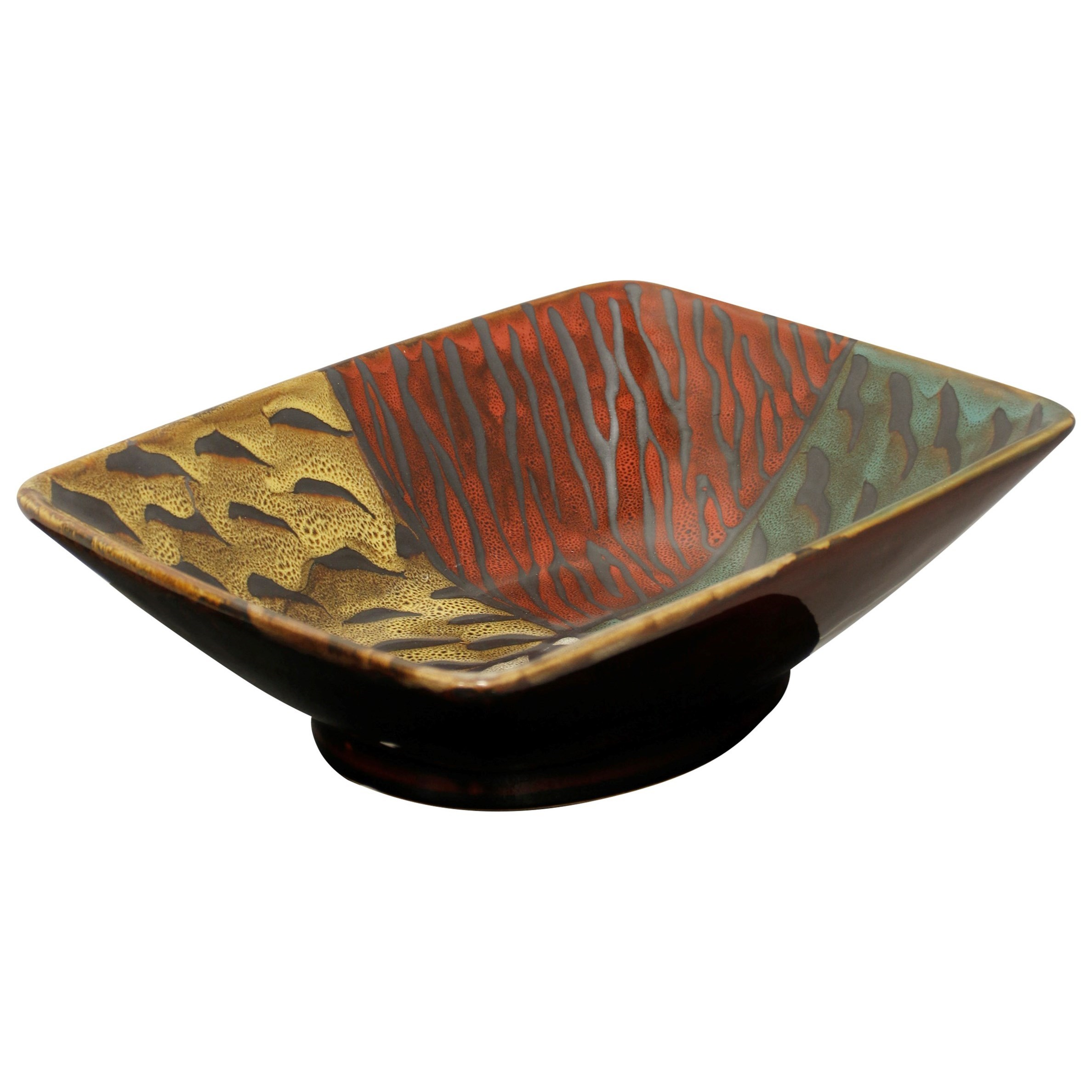 Accessories Rectangular Ceramic Bowl by StyleCraft at Alison Craig Home Furnishings