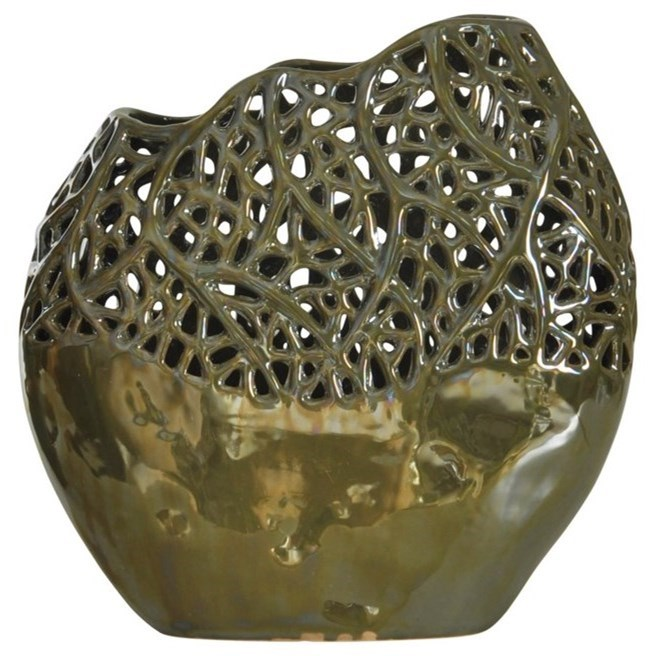 Accessories Ceramic Vase by StyleCraft at Alison Craig Home Furnishings