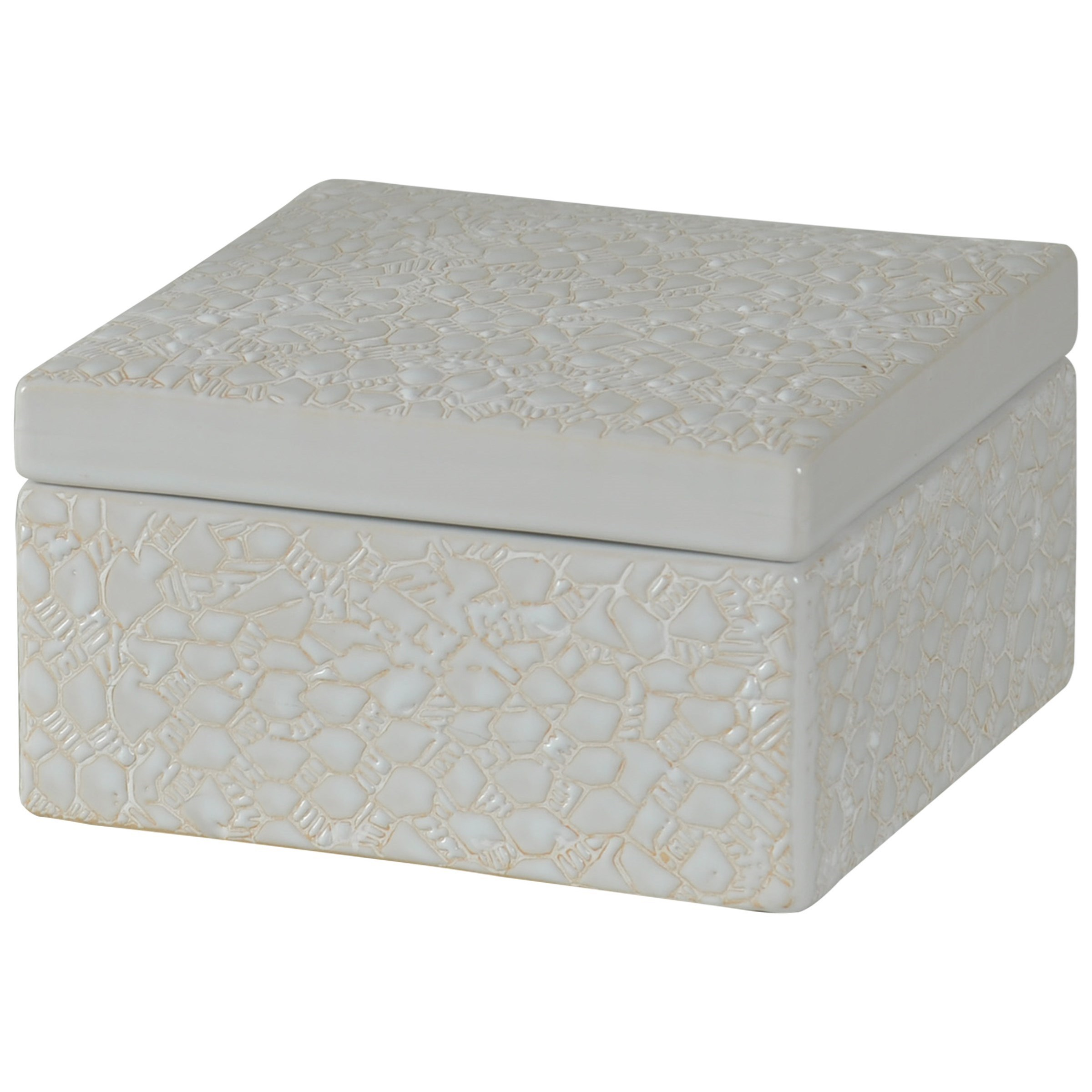 Accessories Square Stoneware Box by StyleCraft at Alison Craig Home Furnishings