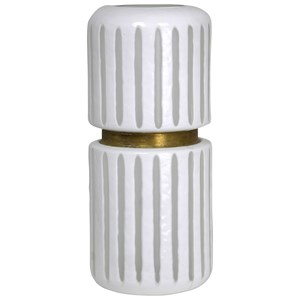 White Glass Vase