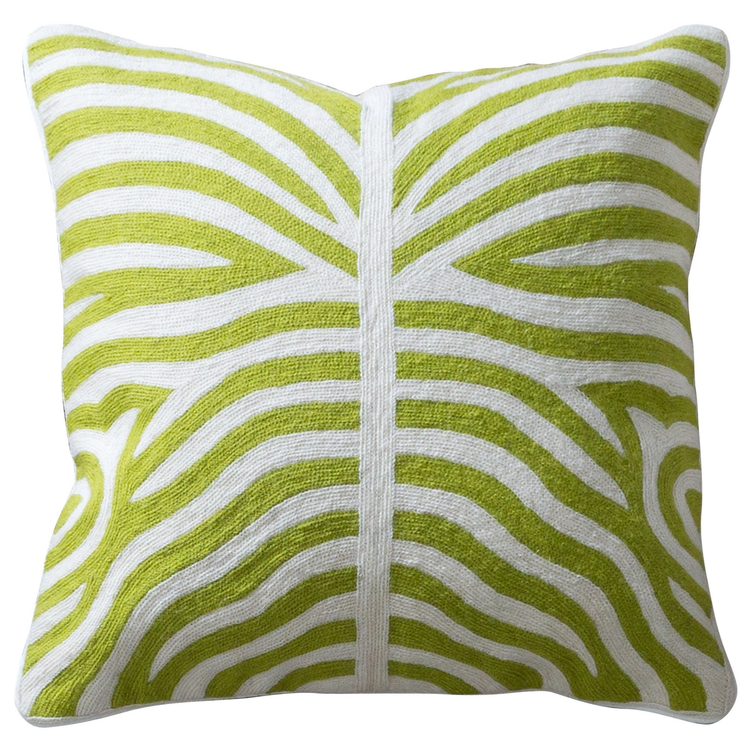 Accessories Green and White Accent Pillow by StyleCraft at Alison Craig Home Furnishings