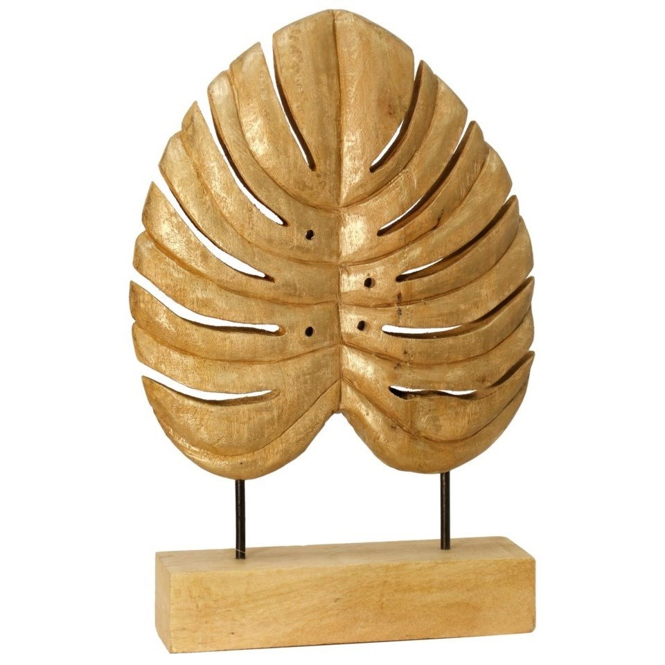 Accessories Carved Wood Leaf by StyleCraft at Alison Craig Home Furnishings