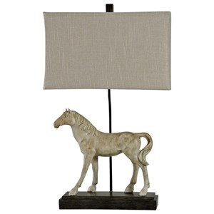 Novelty Horse Lamp with Linen Shade