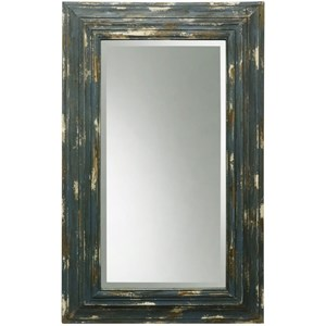 Weathered Wooden Frame Mirror