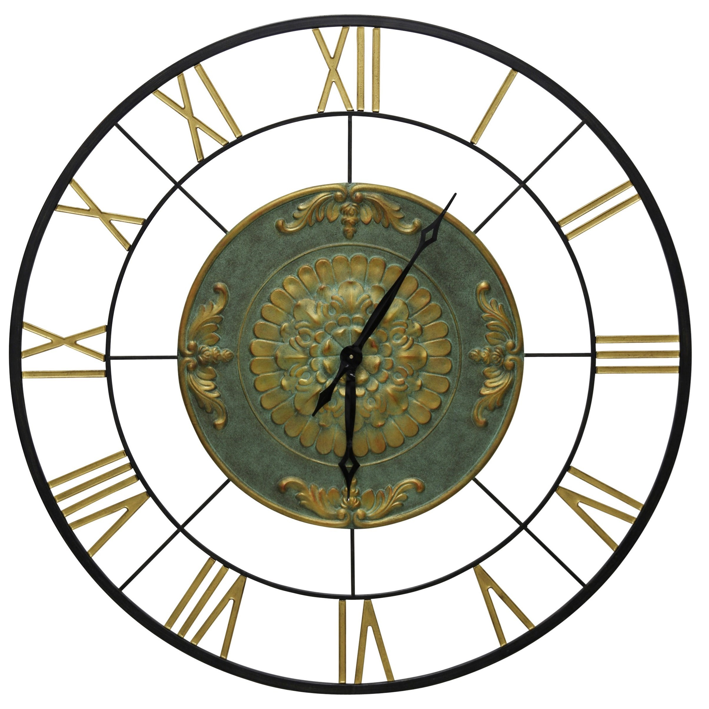 Clocks Metal Wall Clock by StyleCraft at Alison Craig Home Furnishings