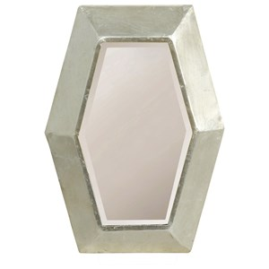 Beveled Polygon Shaped Metal Mirror