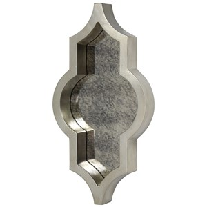 Metal Antique Finished Silver Mirror