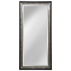 Silver And Black Wood Framed Mirror