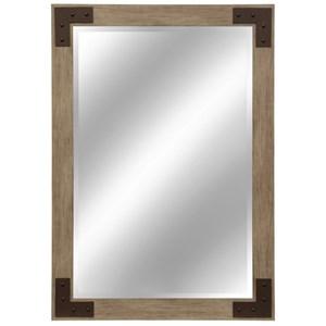 Natural Wood Tone Mirror
