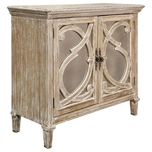 Nappa 2 Door Antique Mirrored Cabinet