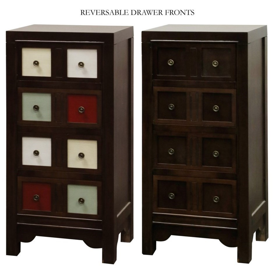 Occasional Cabinets Accent Chest with Reversible Drawer Fronts by StyleCraft at Alison Craig Home Furnishings