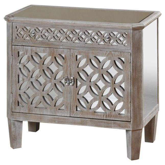 Occasional Cabinets Mirrored Filigree Chest by StyleCraft at Alison Craig Home Furnishings