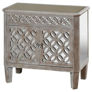 Mirrored Filigree Chest with 2 Doors