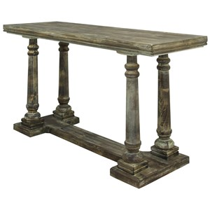 Classic Console Table Of Driftwood