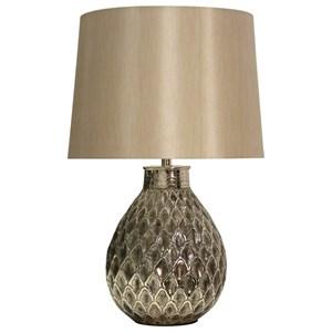 Filigree Embossed Metal Lamp