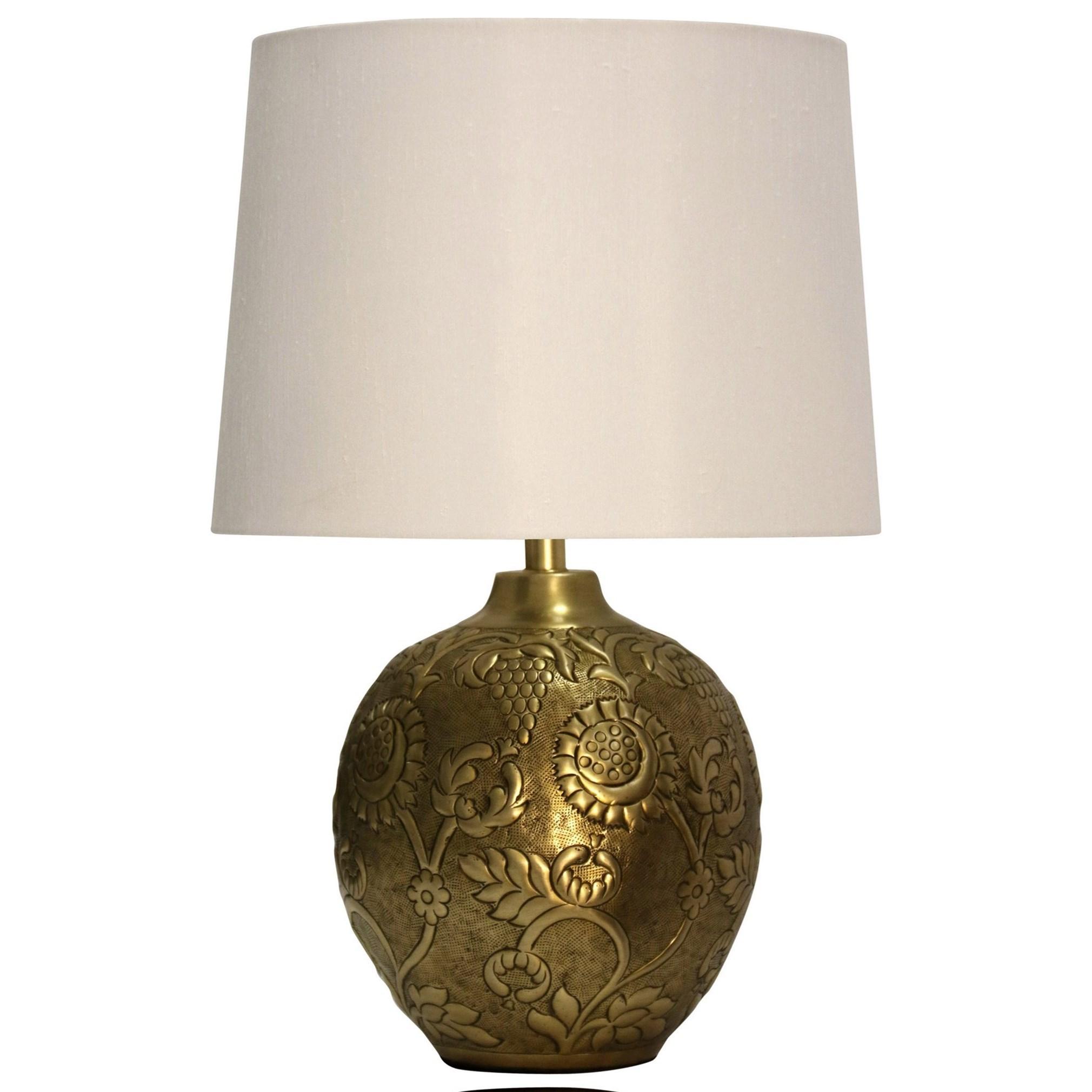 Lamps Antique Embossed Metal Lamp at Ruby Gordon Home