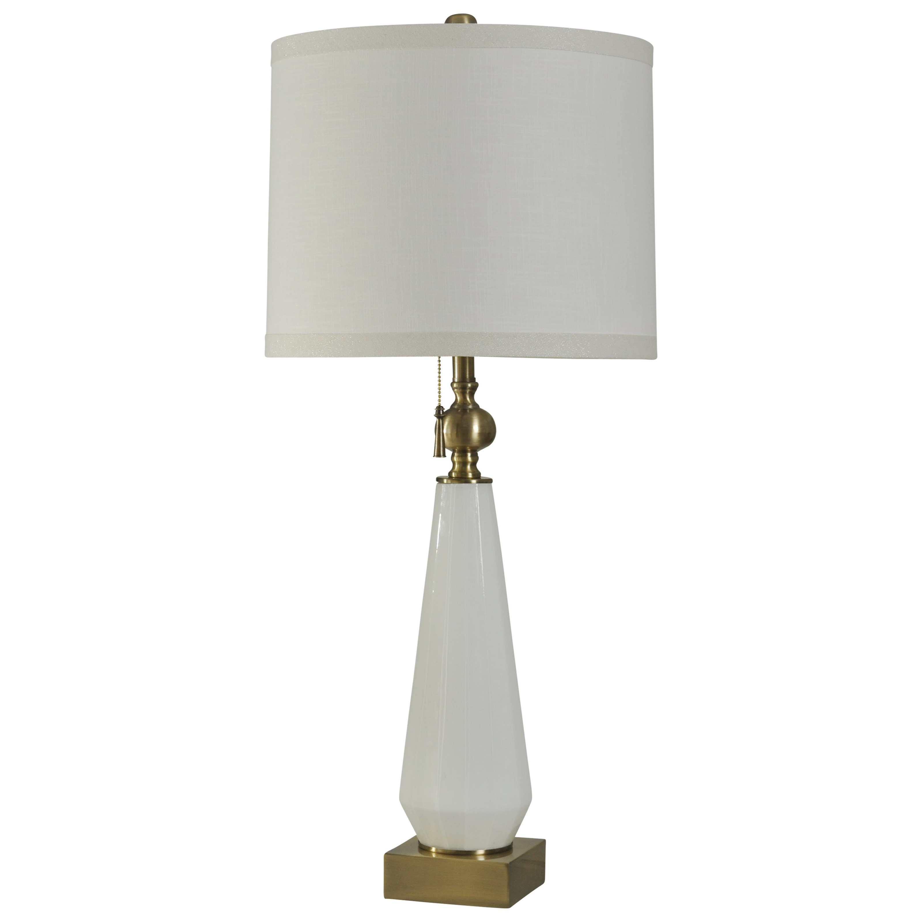 Lamps White Glass Table Lamp by StyleCraft at Alison Craig Home Furnishings