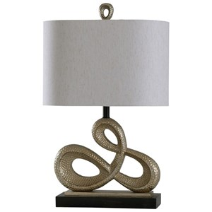 Zora Gold Scale Lamp