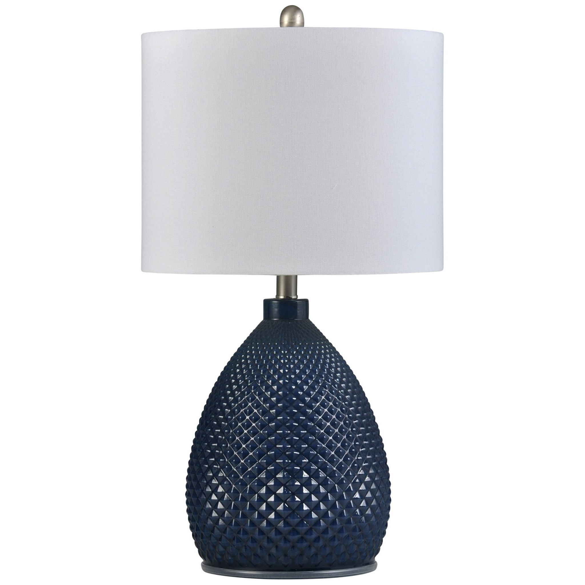 Lamps Navy Blue Lamp by StyleCraft at Alison Craig Home Furnishings