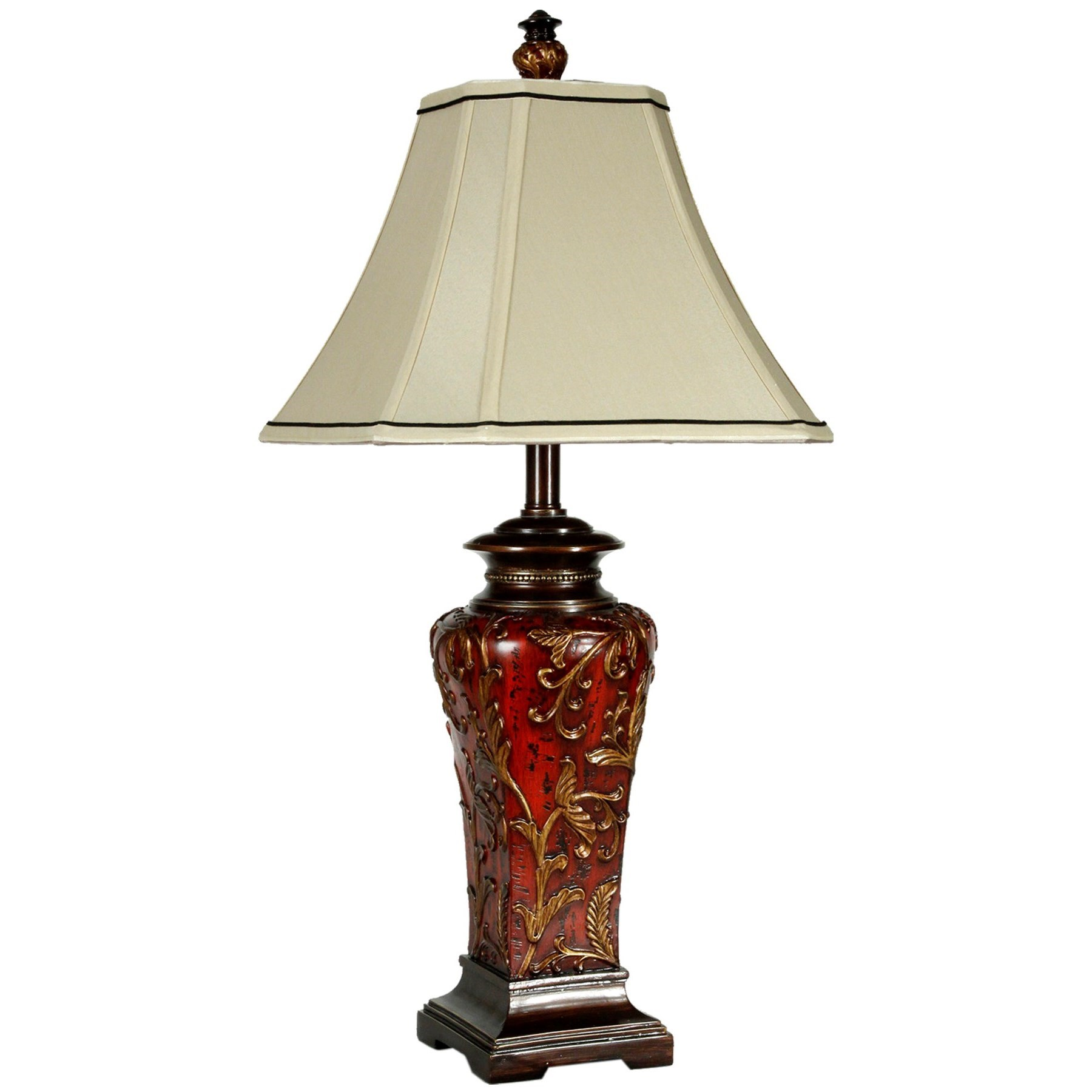 Lamps Crimson Floral Zoey Table Lamp by StyleCraft at Alison Craig Home Furnishings