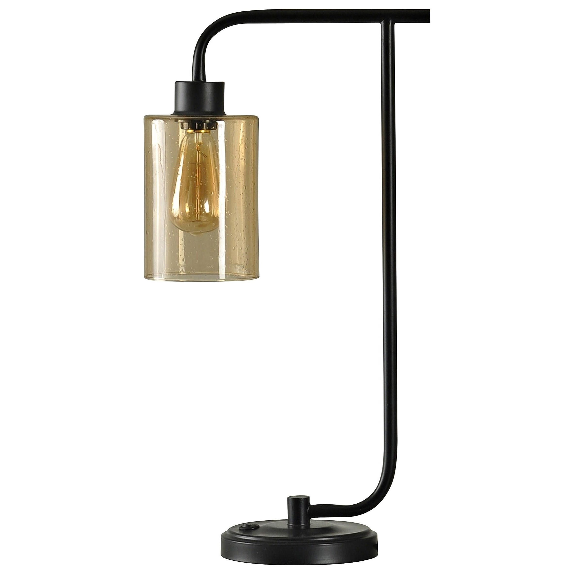Lamps Glass and Metal Desk Lamp by StyleCraft at Wilcox Furniture