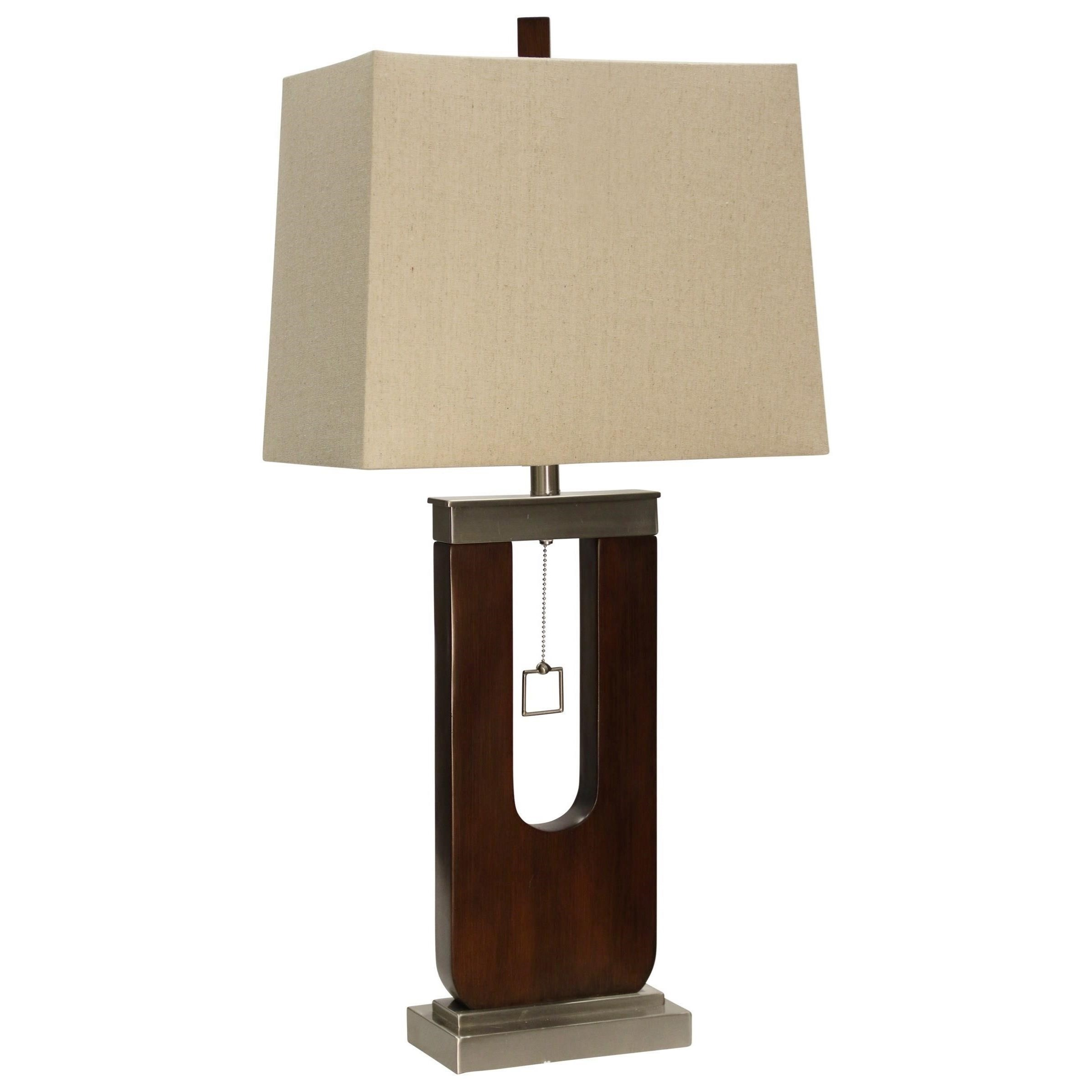 Lamps Wood and Metal Table Lamp by StyleCraft at Becker Furniture