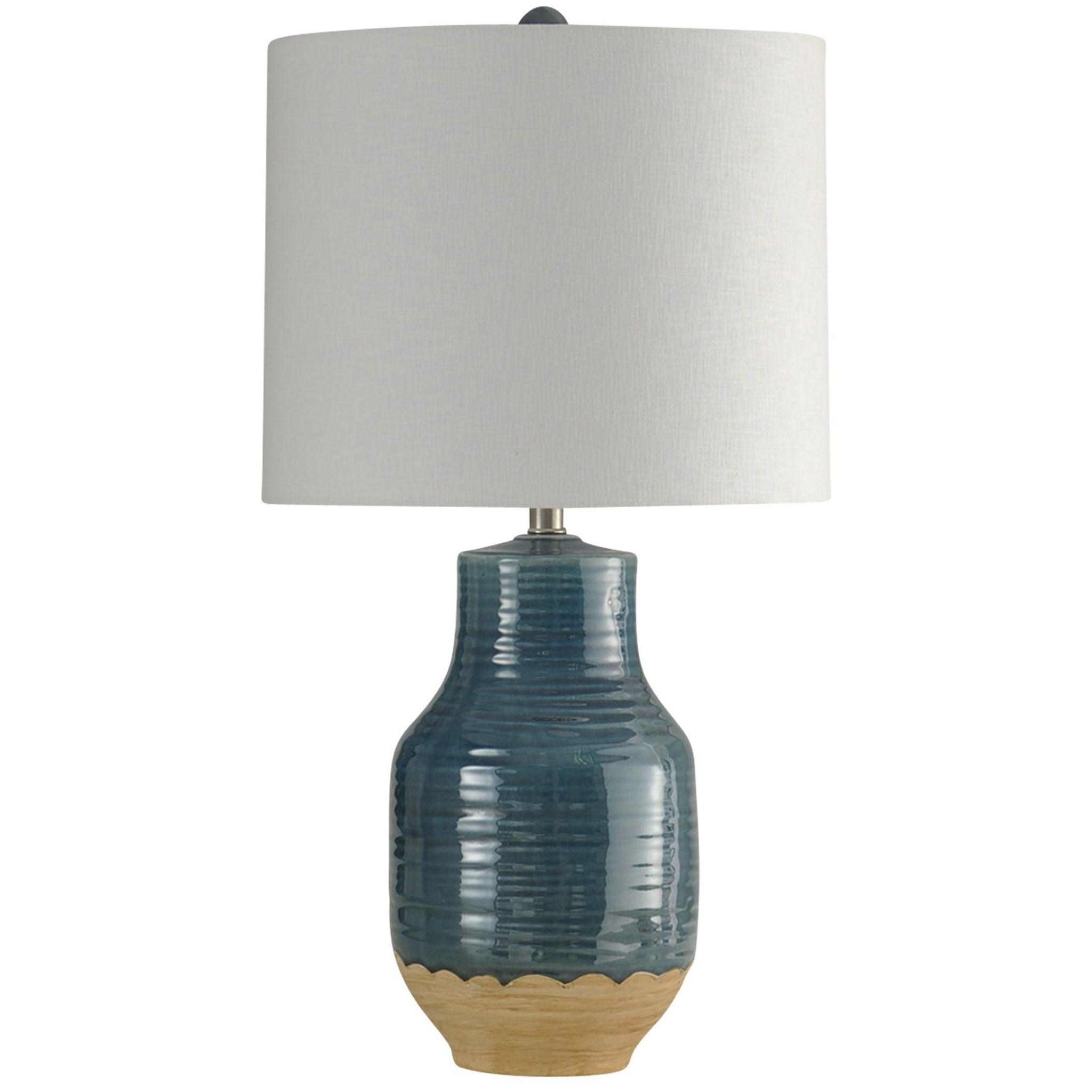 Lamps Prova Blue Dipped Ceramic Lamp at Ruby Gordon Home