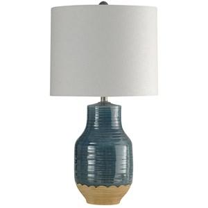 Blue Dipped Ceramic Lamp