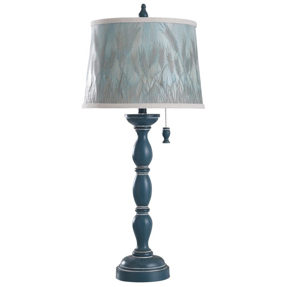 Lamps Fells Point Blue Lamp by StyleCraft at Westrich Furniture & Appliances