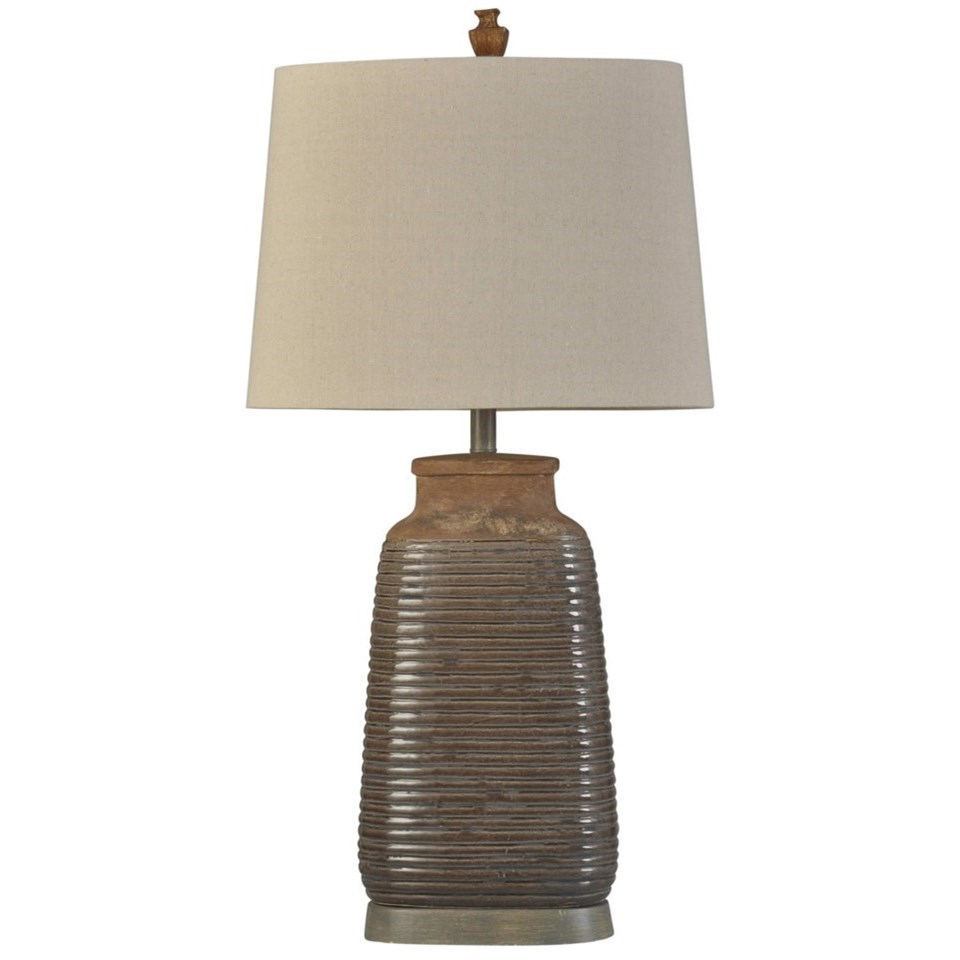 Lamps Armond Brown Ceramic Lamp by StyleCraft at Becker Furniture