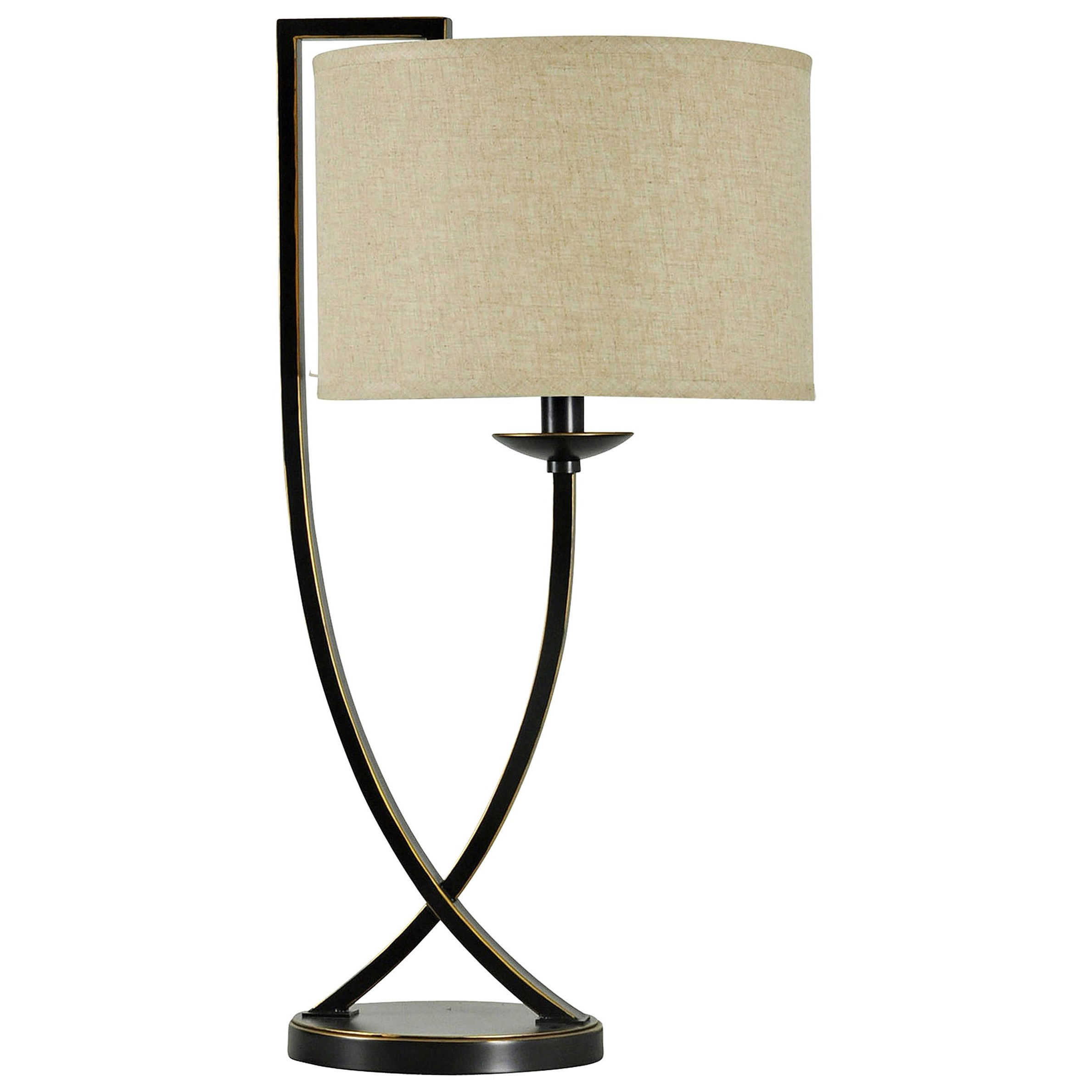 Lamps Bronze Crossed Arm Table Lamp by StyleCraft at Alison Craig Home Furnishings