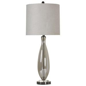 Smoke Glass Table Lamp