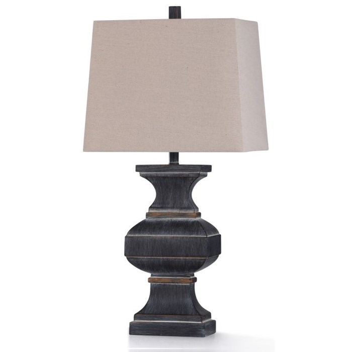 Lamps Malta Black Table Lamp by StyleCraft at Becker Furniture