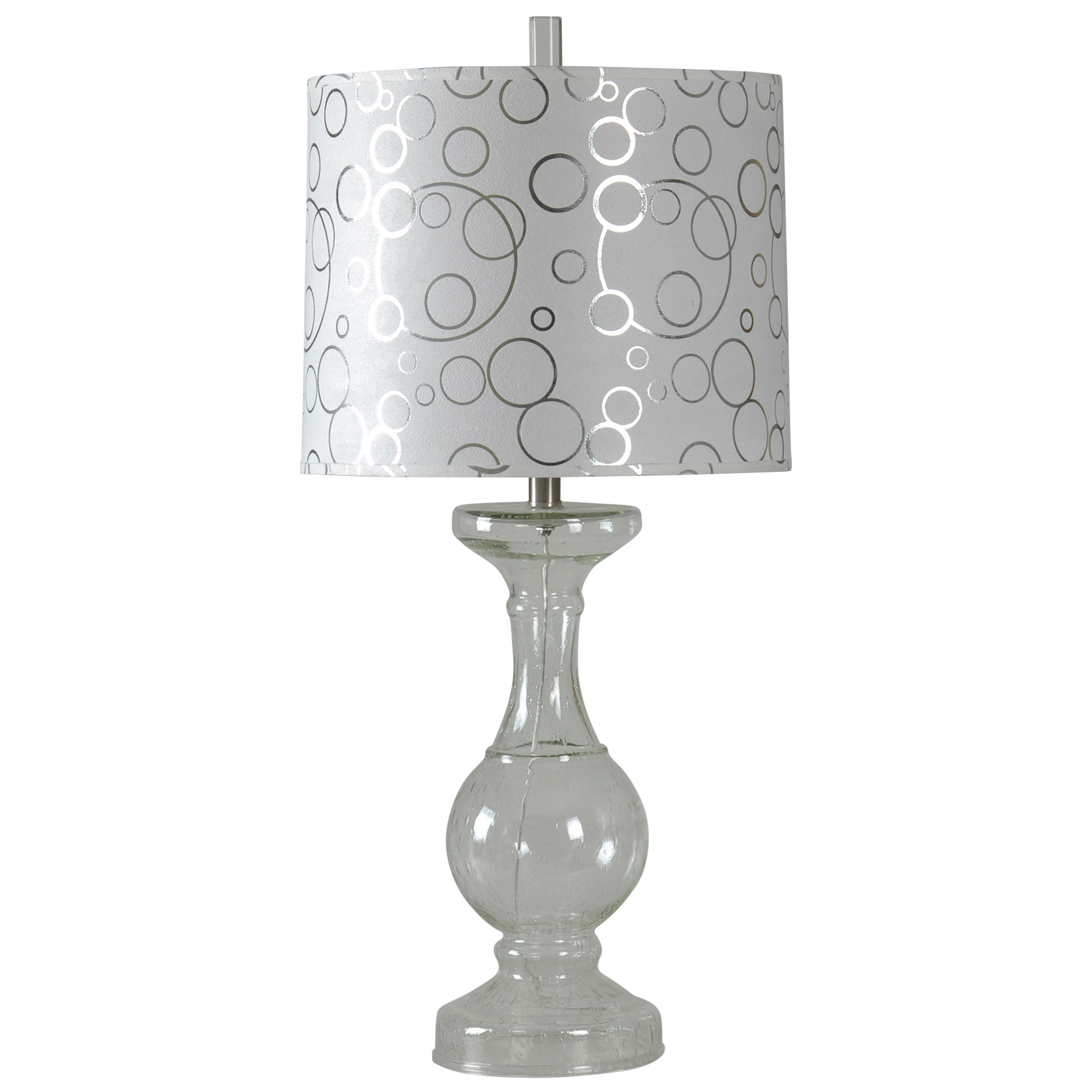 Lamps Clear Glass Lamp by StyleCraft at Alison Craig Home Furnishings