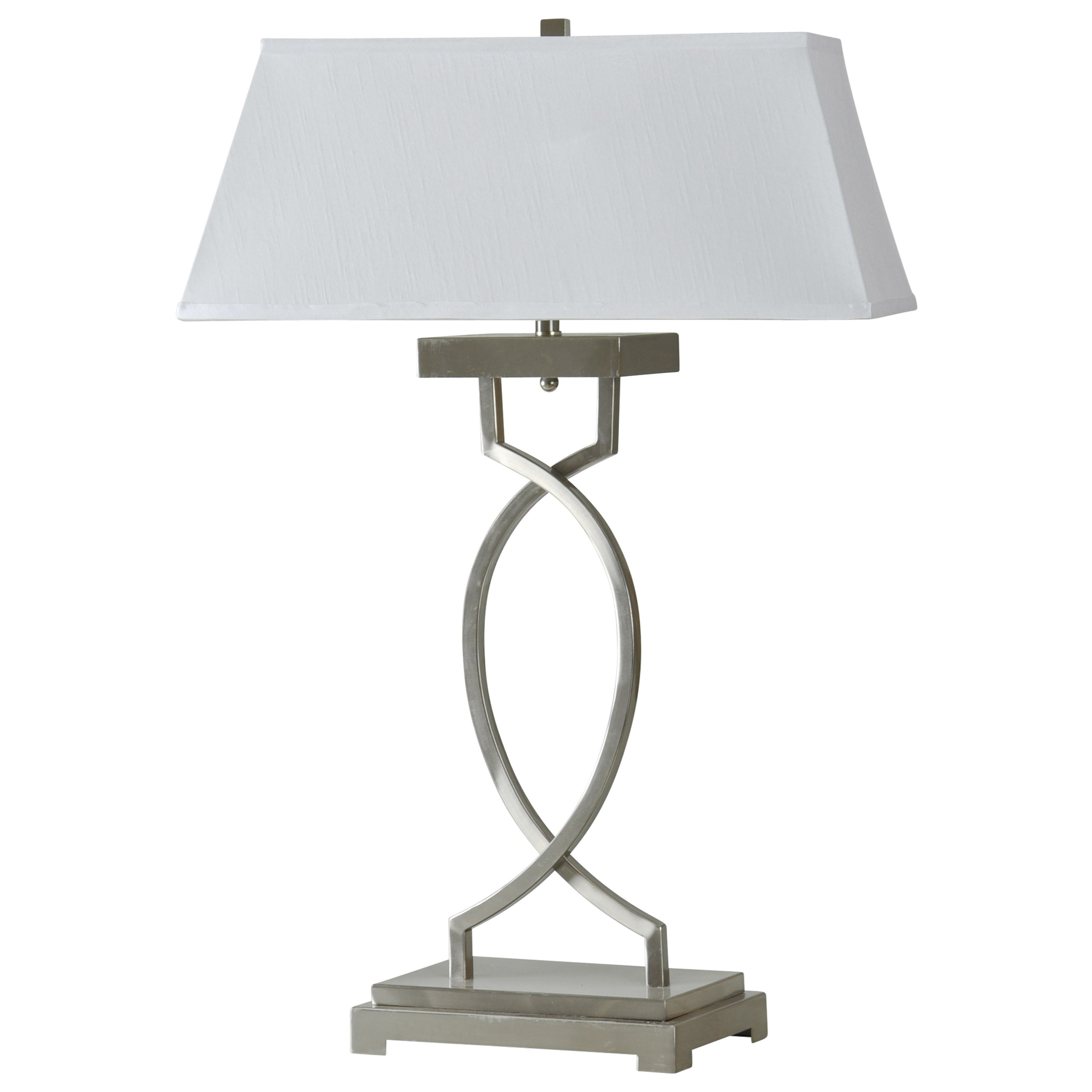Lamps Brushed Steel Transitional Lamp at Ruby Gordon Home