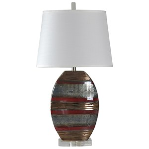 Earth Tone Ceramic Lamp