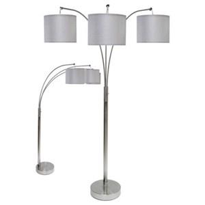 Steel Floor Lamp with 3 Lights